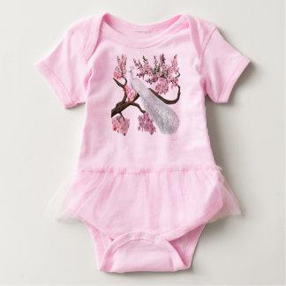 Cherry Blossom Peacock Baby Bodysuit