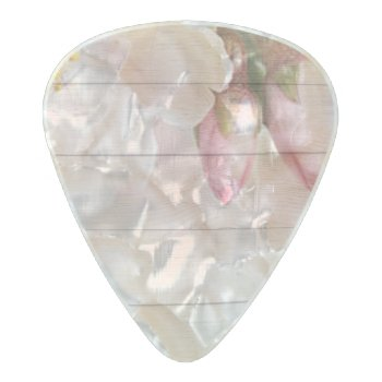 Cherry Blossom Pearl Celluloid Guitar Pick by Wonderful12345 at Zazzle