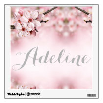 Cherry blossom personalized wall decal