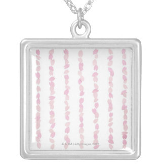 Cherry Blossom Petals Silver Plated Necklace