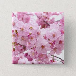Cherry blossom pinback button