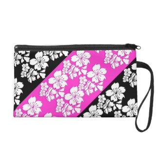 Cherry blossom pink black girly wristlet purses