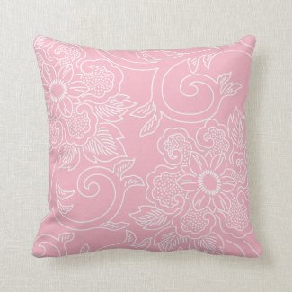 Pink Floral Decorative Pillows : Pink Floral Pillows for Your Home Pretty Throw Pillows