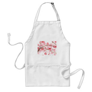 Cherry blossom pink flowers adult apron