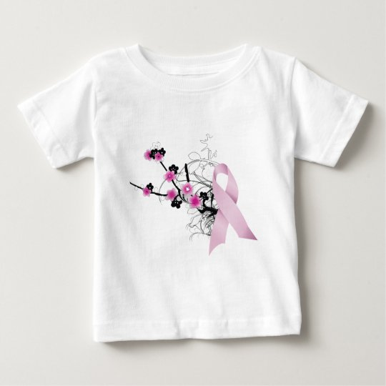 Cherry Blossom Pink Ribbon Baby T-Shirt