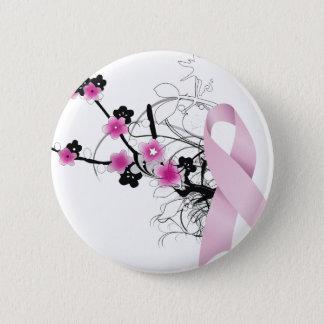 Cherry Blossom Pink Ribbon Button