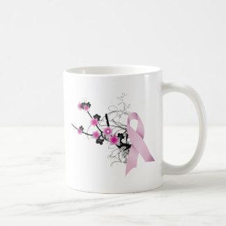 Cherry Blossom Pink Ribbon Classic White Coffee Mug