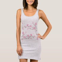 Cherry Blossom - Pink Sleeveless Dress