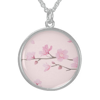 Cherry Blossom - Pink Sterling Silver Necklace