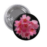 Cherry Blossom Pink Tree Flower 1 Inch Round Button