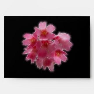 Cherry Blossom Pink Tree Flower Envelope