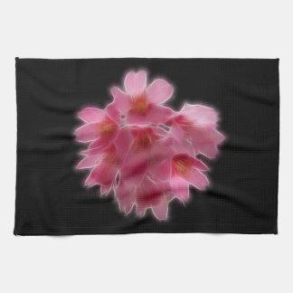 Cherry Blossom Pink Tree Flower Kitchen Towel
