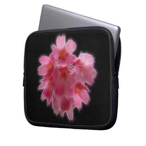 Cherry Blossom Pink Tree Flower Laptop Sleeves