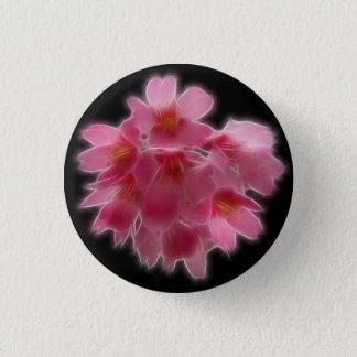 Cherry Blossom Pink Tree Flower Pinback Button