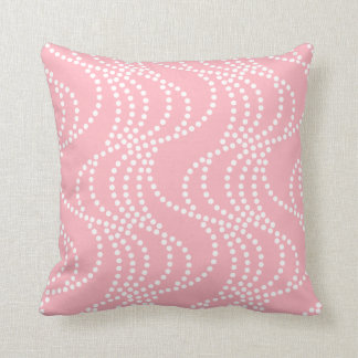 Cherry Blossom Pink Wave Pattern Pillow