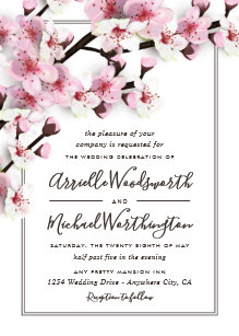 cherry blossom invitations zazzle