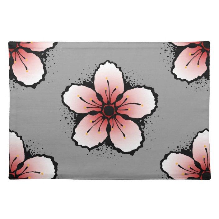 Cherry Blossom Placemats Zazzle Com