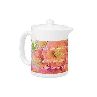 Cherry blossom poem teapot