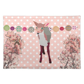 Cherry Blossom Pretty Pink Fawn American MoJo Plac Placemat