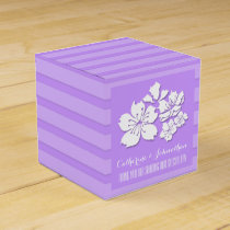 Cherry blossom purple wedding favors favor box