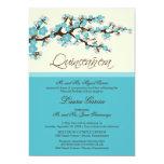 """Cherry Blossom Quinceanera Invitation (aqua) 5"""" X 7"""" Invitation Card"""