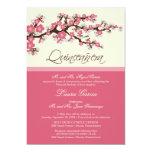 Cherry Blossom Quinceanera Invitation (pink)