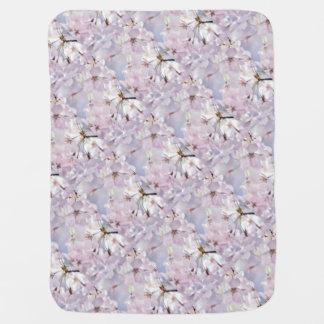 Cherry Blossom Receiving Blanket