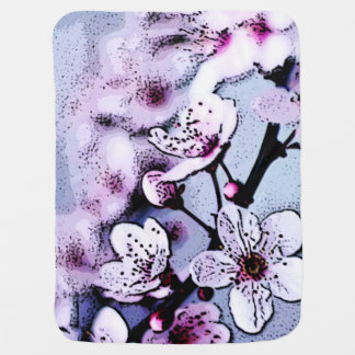 Cherry blossom receiving blankets