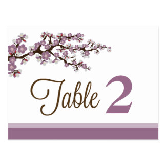 Cherry Blossom Reception Table Number Placecards Postcard