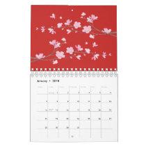 Cherry Blossom - Red Calendar