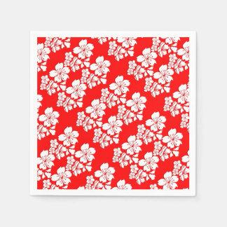 Cherry blossom red sakura spring disposable napkins