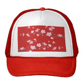 Cherry Blossom - Red Trucker Hat