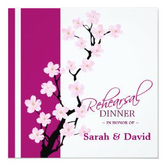 "Cherry Blossom   Rehearsal Dinner Invitation 5.25"" Square Invitation Card"