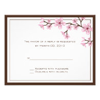 Cherry Blossom reply cards Personalized Invites