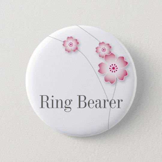 Cherry Blossom Ring Bearer Button