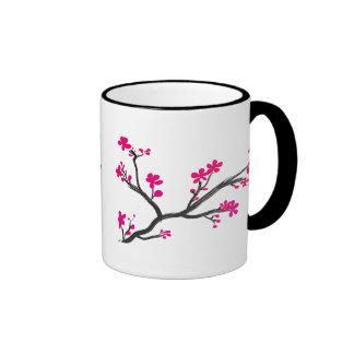cherry blossom ringer coffee mug