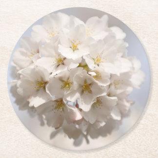 Cherry Blossom Round Paper Coaster
