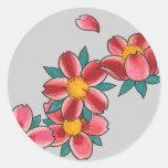 cherry blossom round sticker