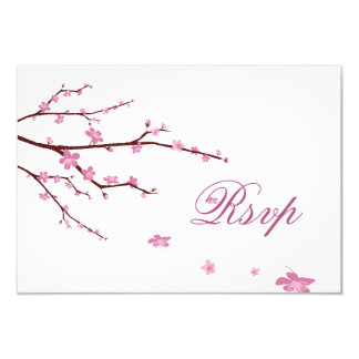 Cherry Blossom RSVP Cards For Wedding