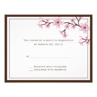Cherry Blossom RSVP Cards