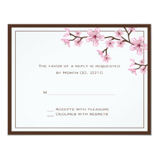 Cherry Blossom RSVP Cards Personalized Invites