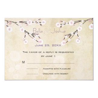 "Cherry Blossom RSVP 3.5"" X 5"" Invitation Card"
