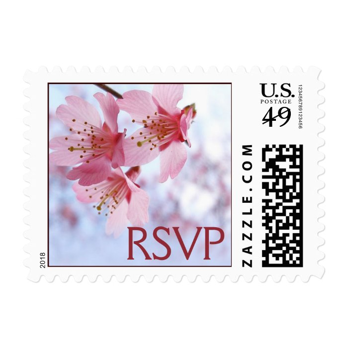 Cherry Blossom RSVP Stamps
