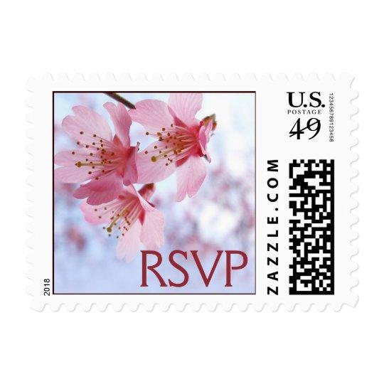 Cherry Blossom RSVP Stamps