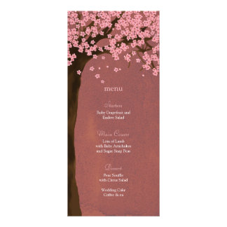 Cherry Blossom Sakura (Dusk) Watercolor Menu Card Customized Rack Card
