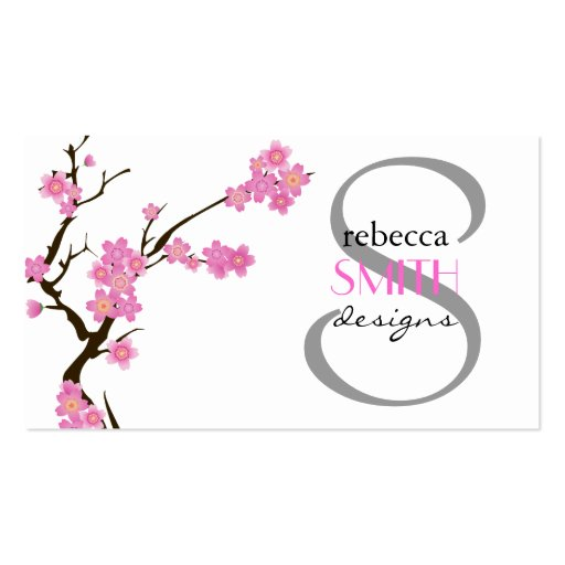 Cherry blossom business card templates page3 bizcardstudio cherry blossom sakura flowers blossoms pink white business card colourmoves