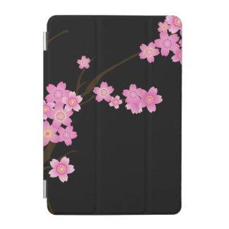 Cherry Blossom, Sakura Flowers - Pink Black Brown iPad Mini Cover