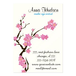 Cherry Blossom, Sakura Flowers - Pink White Brown Business Card Templates