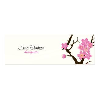 Cherry Blossom, Sakura Flowers - Pink White Brown Business Card