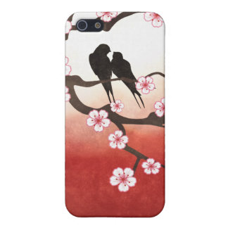 Cherry Blossom Sakura & Love Birds iPhone 5 Covers
